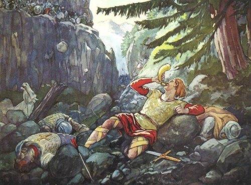 La bataille de Ronceveau