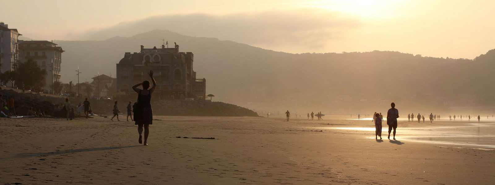 vue mer de hendaye